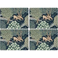 Portmeirion Home & Gifts The Original Morris & Co-Wightwick Cork Backed Placemats Set of 4, Multi Coloured, 40.1 x 29…