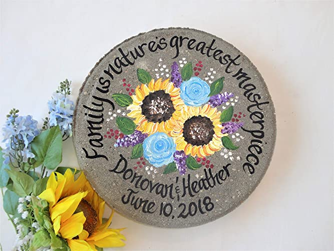 PERSONALIZED Hand Painted Parent Wedding Gift, Parent Wedding Gift Garden  Stone, Gift For Parents