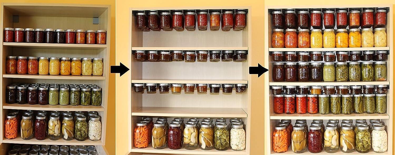 amazon com mason jar storage by otter lab set of 2 racks for rh amazon com canning jar wall art canning jar shelf