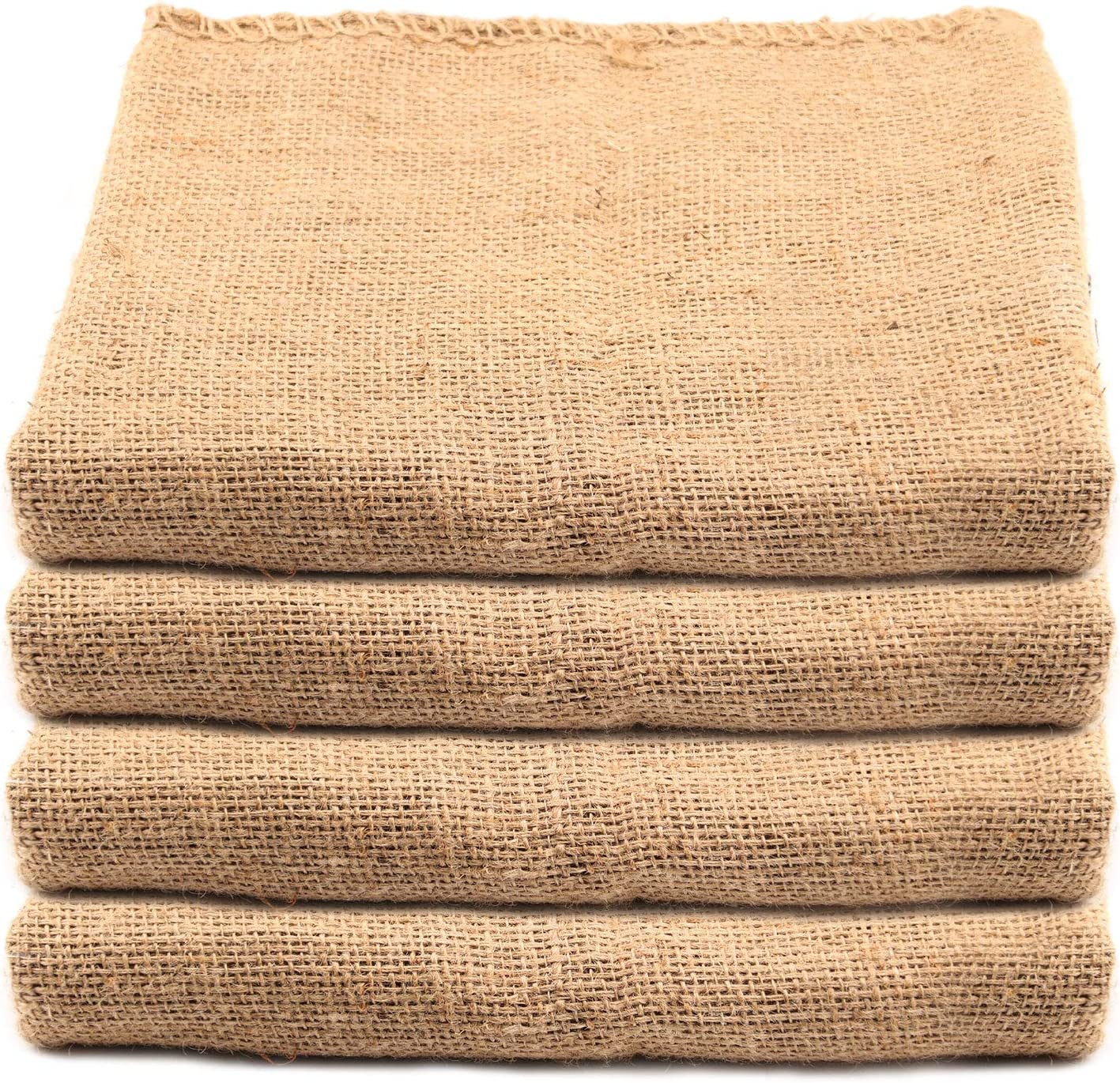 KEILEOHO 8 Pack 40 X 24 Inch Burlap Bags, Large Food Grade Burlap Sacks for Gardening, Planting Growing Bags, Sack Race Bags for School Racing Game, Christmas Party Game