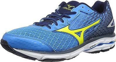Mizuno Wave Rider 19, Zapatillas de Entrenamiento para Hombre, Azul (Divablue/Bolt/DressBlue), 46.5 EU: Amazon.es: Zapatos y complementos
