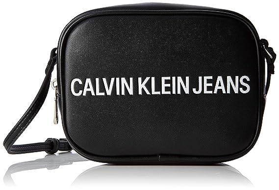 Calvin Klein Jeans - Sculpted Logo Camera Bag, Bolsos bandolera Mujer, Negro (BLACK