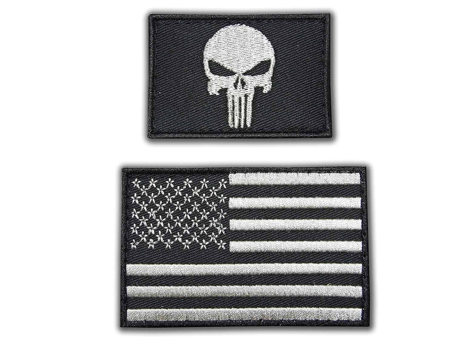 Bande velcro touchlines punisher tactical military morale outlaw skull motard /écusson