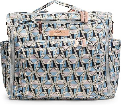 JuJuBe BFF Multi Functional Convertible Diaper BackpackMessenger Bag Sakura at Dusk