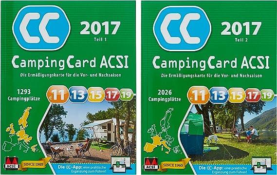 ACSI CampingCard 2017 - Tarjeta de acampada para temporada alta y baja (alemán): Amazon.es: Deportes y aire libre