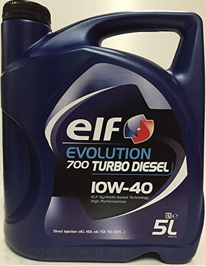 ELF ELTD10405 Evol. 700 Turbo Diesel 10W40 5L, Autre: Amazon.es ...