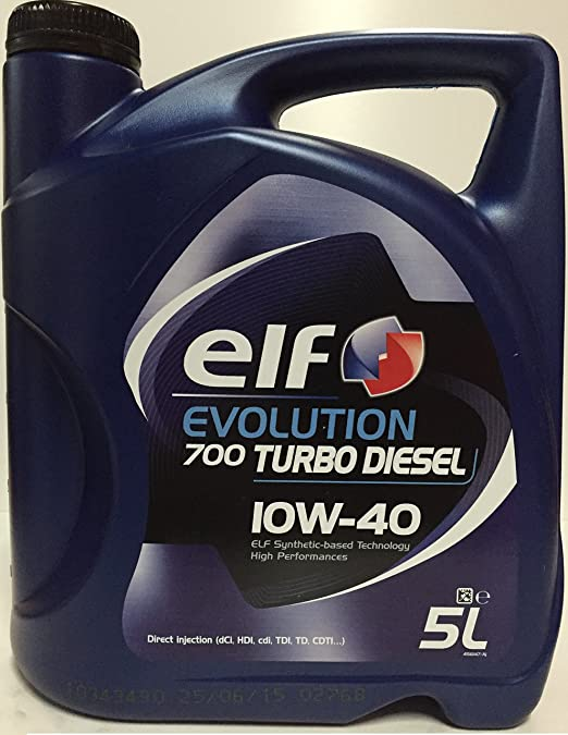Aceite de Motor El Evolution 700 Turbo Diesel 10W40 – Botella de 1 L: Amazon.es: Coche y moto