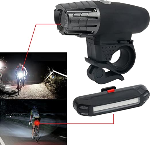 2 X LED Lampe Phare Frontale Blanc pour Guidon de V/élo Cyclisme