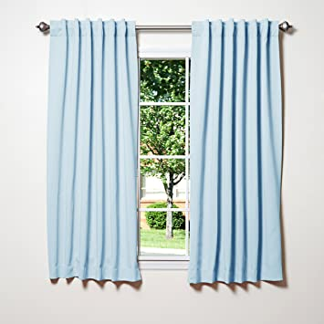 Delightful Best Home Fashion Thermal Insulated Blackout Curtains   Back Tab/ Rod  Pocket   Sky Blue