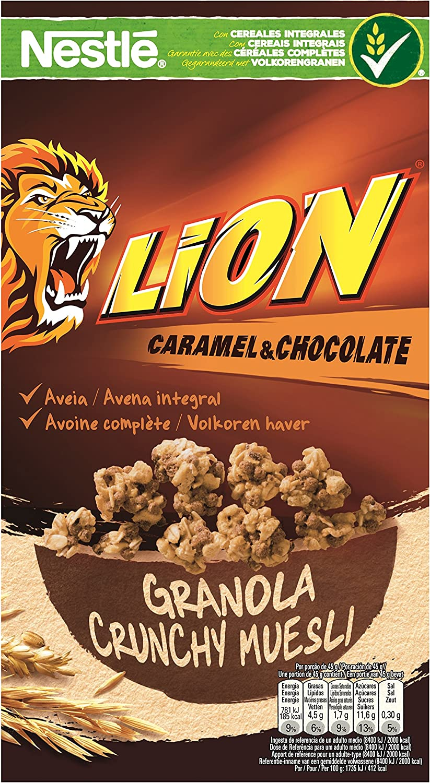 Lion Cereales Granola Copos de Avena Integral y Trigo, con ...
