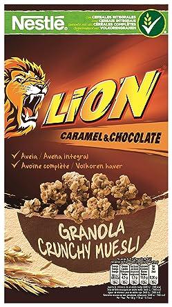 Lion Cereales Granola Copos de Avena Integral y Trigo, con Chocolate y Caramelo - 300
