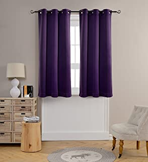 mysky home grommet top thermal insulated window blackout 42 by 63 inch