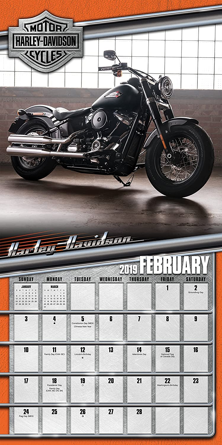 amazoncom 2019 harley davidson wall calendar office products