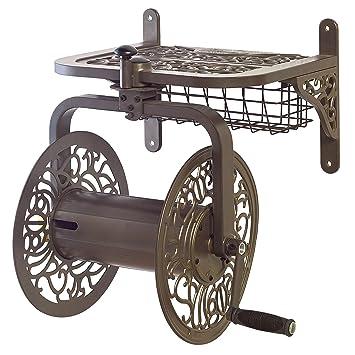 Nice Liberty Garden Products 714 Decorative Cast Aluminum Navigator Rotating Garden  Hose Reel, Holds 150