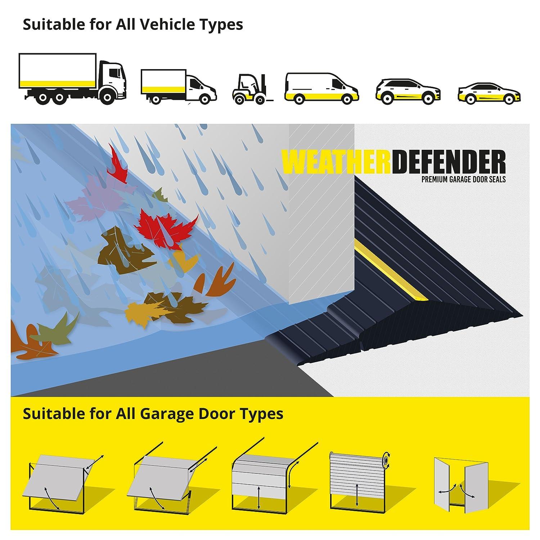4.4m Joint d/étanch/éit/é de porte de garage Weather Defender Premium