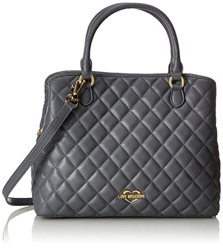 Borsa Quilted Nappa Pu Nero, Womens Shoulder Bag, Black, 11x27x32 cm (B x H T) Love Moschino