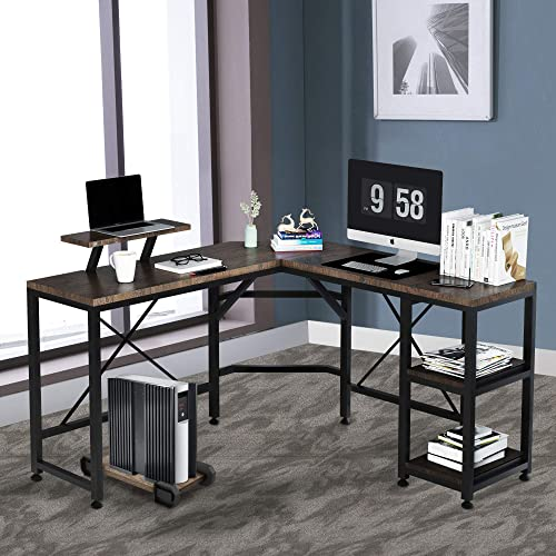 F R 54 L-Shaped Computer Desk - the best modern office desk for the money