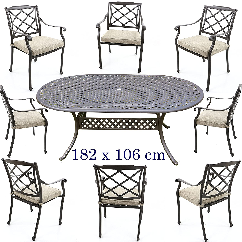 Aluguss Gartenmöbel Set, Gartenmöbelgarnitur bestehend aus ...