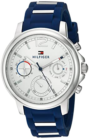babb54290bd58 Image Unavailable. Image not available for. Colour: Tommy Hilfiger Analogue Silver  Dial Women's ...