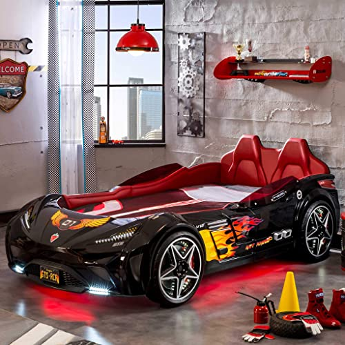 Cilek Twin Size Kids Race Car Bed Frame Remote Controlled