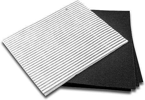 vhbw Set de filtros universales (grasa + carbón activado) para campanas de cocina con 60 cm, compatible con AEG, Bauknecht, Bosch, etc: Amazon.es: Grandes electrodomésticos
