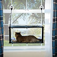 K&H Pet Products EZ Mount Window Kitty Sill Double Stack Gray 12 X 23 Inches