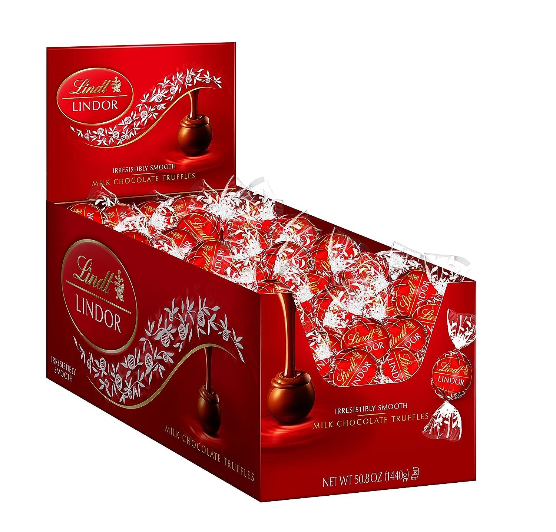 Amazon.com : Lindt LINDOR Milk Chocolate Truffles, 120 Count ...