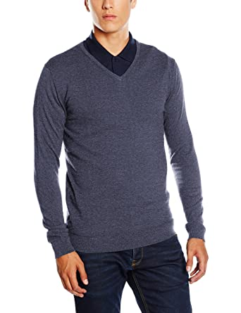 NIZZIN Herren Pullover Oak, Blue, Small