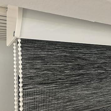 Hervorragend Amazon.de: Duo Rollo Doppelrollo Farbe dunkel grau meliert Breite NR97