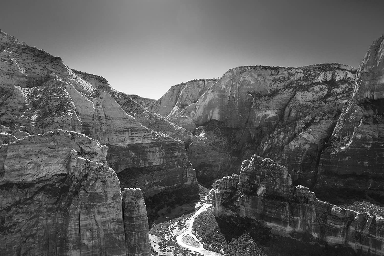 Amazon com angels landing photo print on canvas or paper zion national park wall art black and white handmade