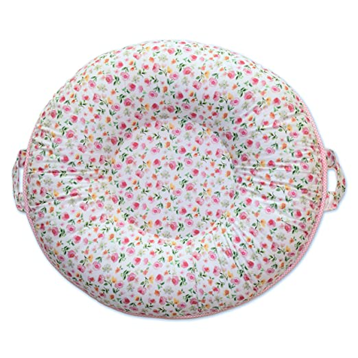 Pello Multi-use Luxe Baby-Toddler Floor Pillow/Play Mat/Lounger (Elizabeth/Light Pink)