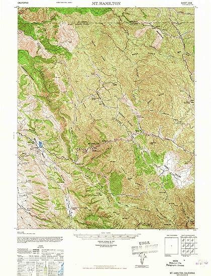 Amazon.com: YellowMaps Mt Hamilton CA topo map, 1:62500 Scale, 15 X on