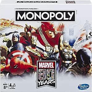 Monopoly - Juego de Mesa Monopoly de Marvel 80 años Comics: Amazon ...