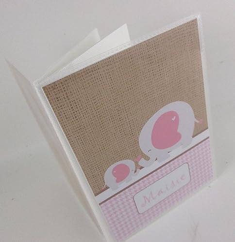 Amazoncom Baby Girl Photo Album Ia500 Printed Burlap Pink