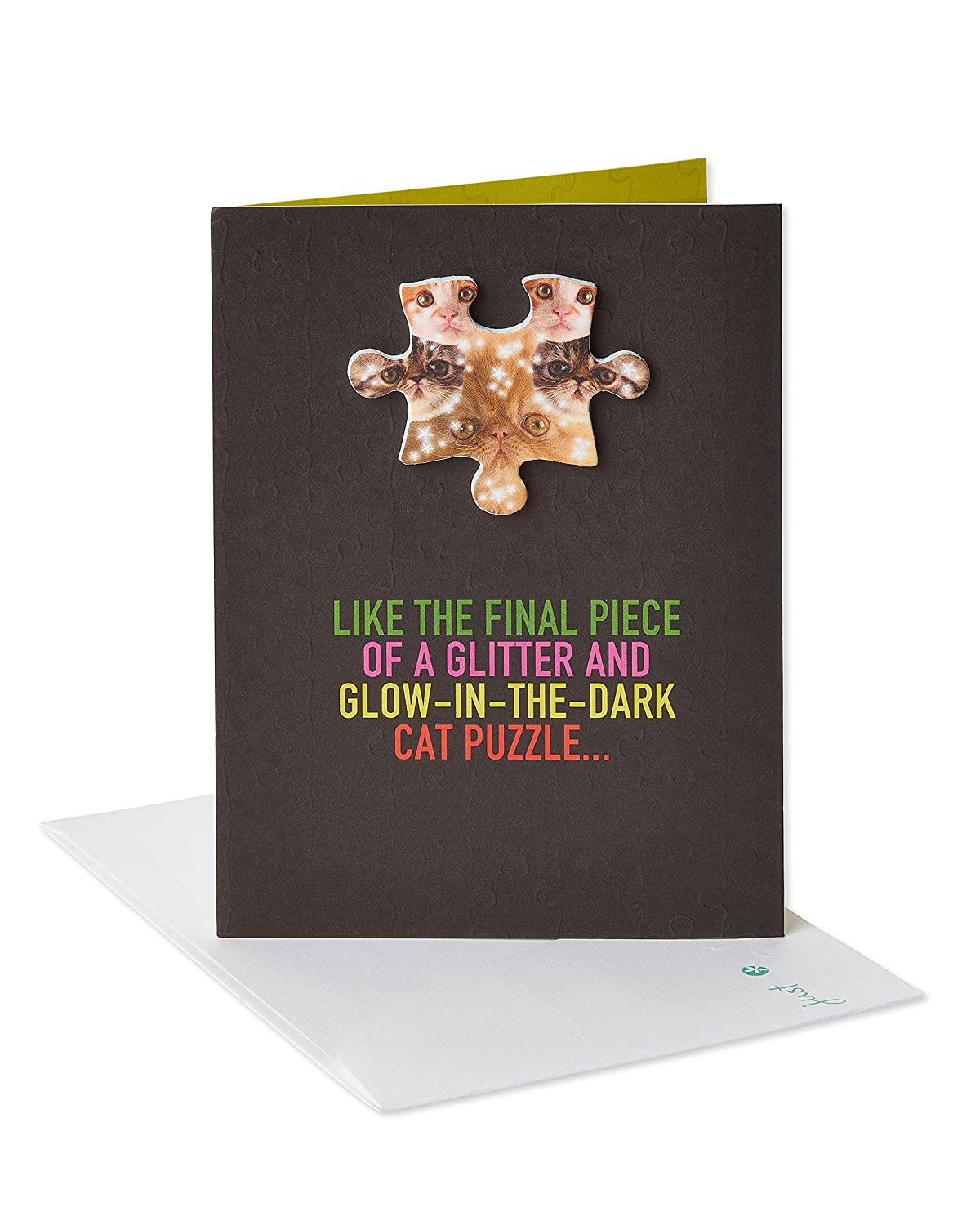 Amazon American Greetings Funny Cat Puzzle Birthday Card From