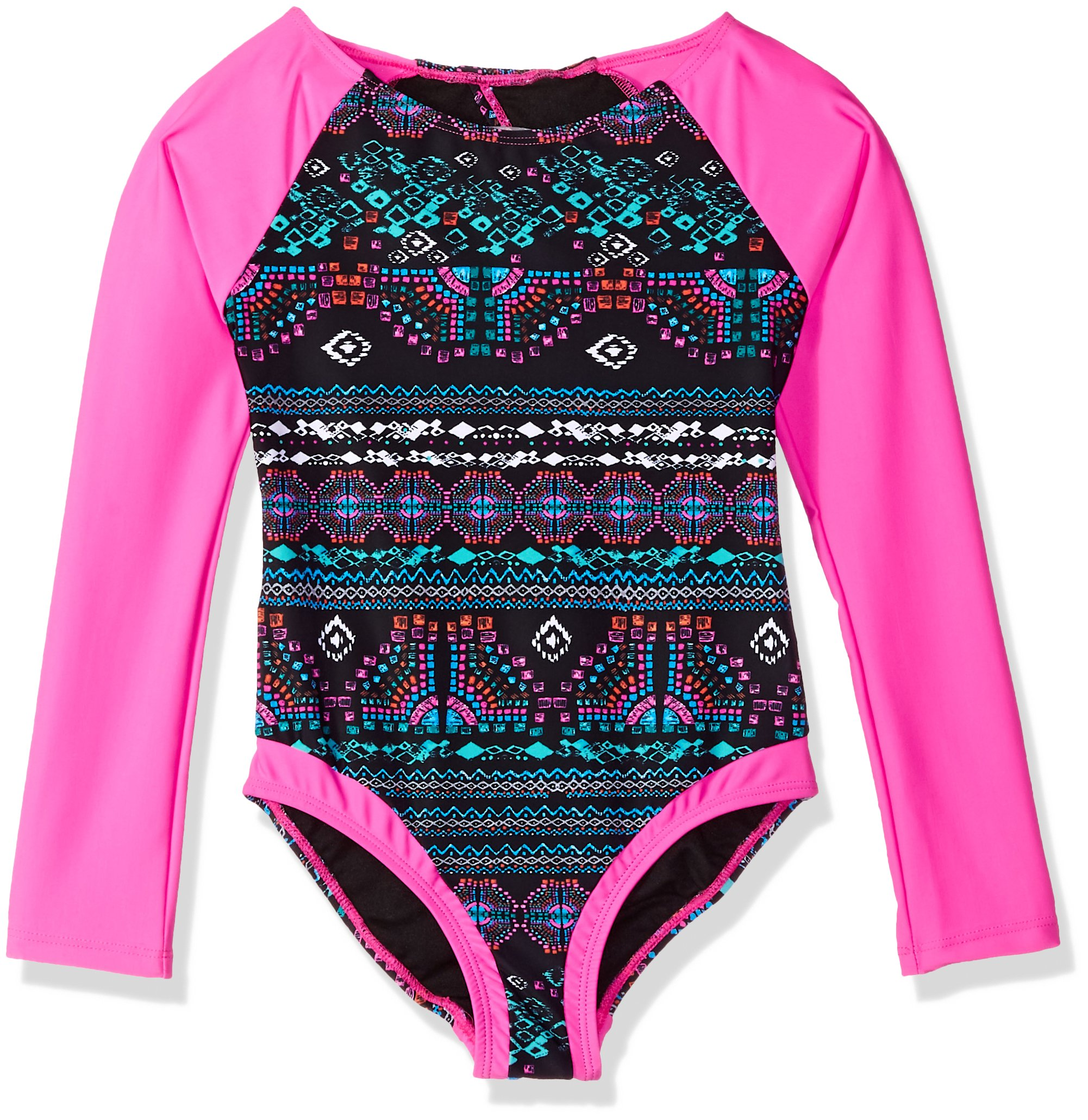 Jessica Simpson Big Girls' One-Piece Swimsuit Bathing Suit, Long Sleeve, 16 by Jessica Simpson (Image #1)