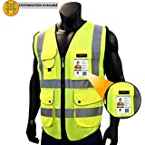 KwikSafety SUPERIOR | Class 2 Economy Safety Vest | 360° High Visibility Reflective ANSI Compliant Work Wear | Hi Vis Yellow 9 Pockets Heavy Duty Zipper | Men Women Regular to Oversized Fit | X-Large