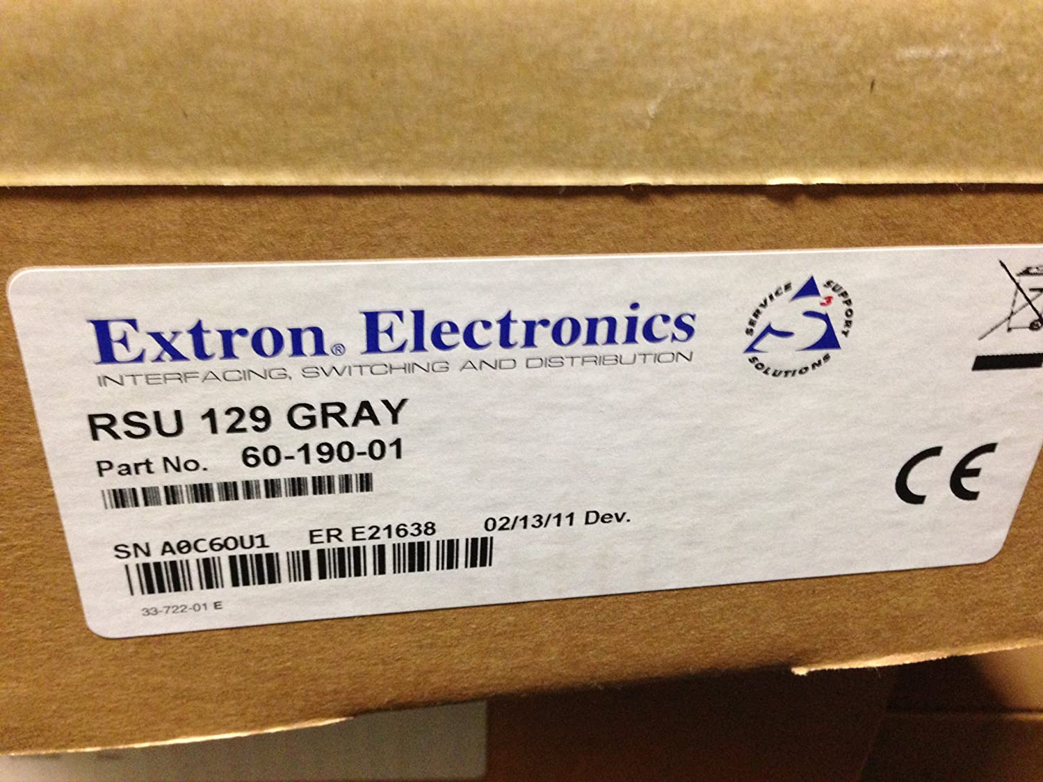 Extron RSU 129 GRAY 60-190-01 Basic Rack Shelf