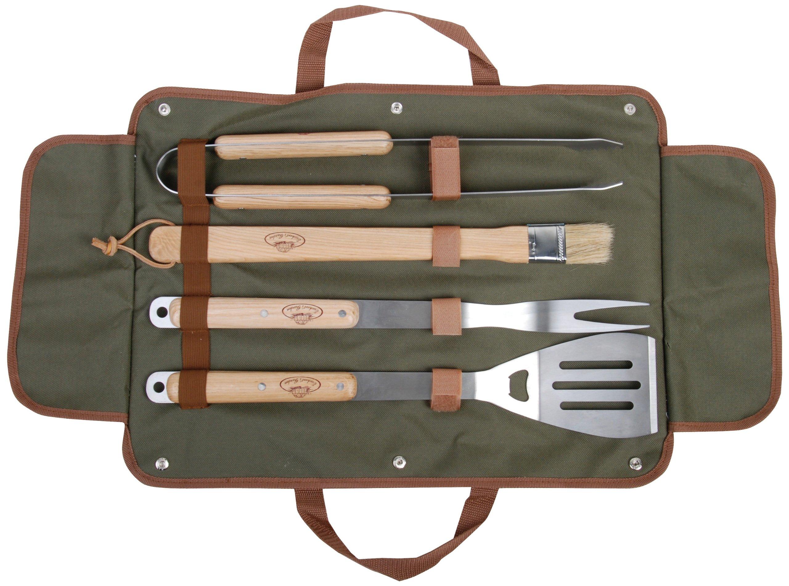 Esschert Design USA GT37 BBQ Tool Set with Canvas Bag by Esschert Design USA