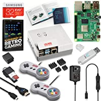 Vilros Raspberry Pi 4 8GB Retro Gaming Kit with SNES Style Controllers and NES Style Case