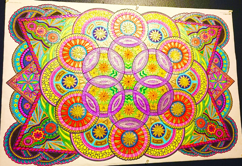 Amazon.com: Mandala Challenge - Giant Wall Size Coloring Poster ...
