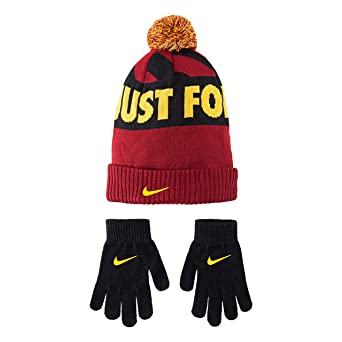 ded0147b85f3bf Amazon.com: Nike Kids' Little Beanie and Glove Set, Game Royal/Red/Blue  8/20: Clothing