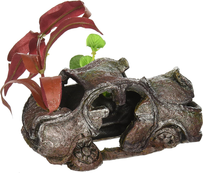 Penn-Plax Car Wreck with Plant Aquarium Resin
