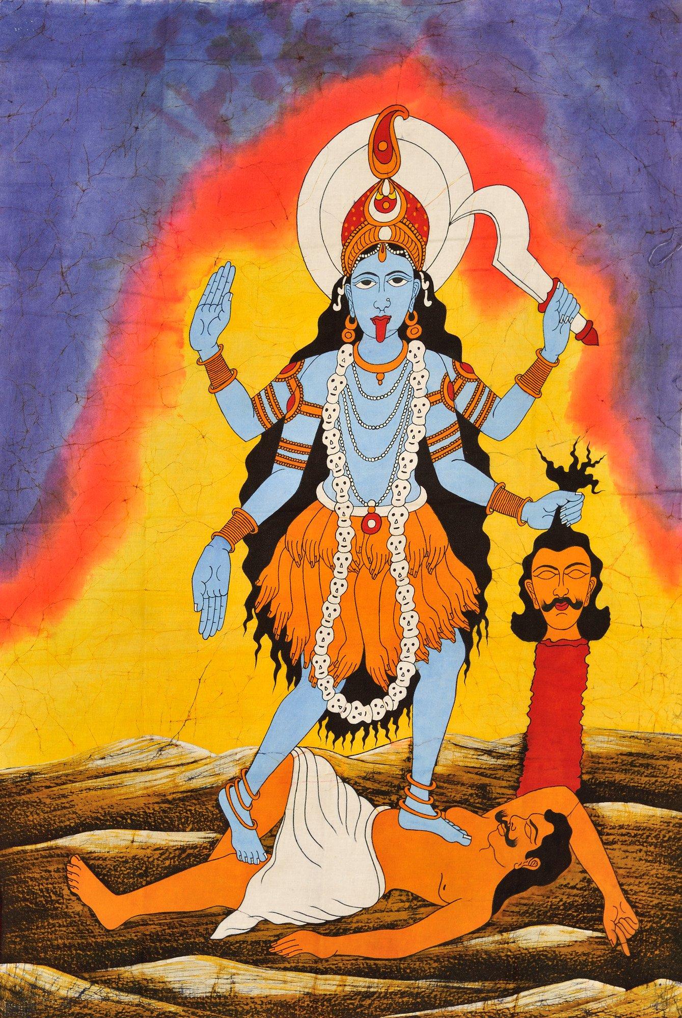 The Ten Mahavidyas : Kali - Batik Painting On Cotton
