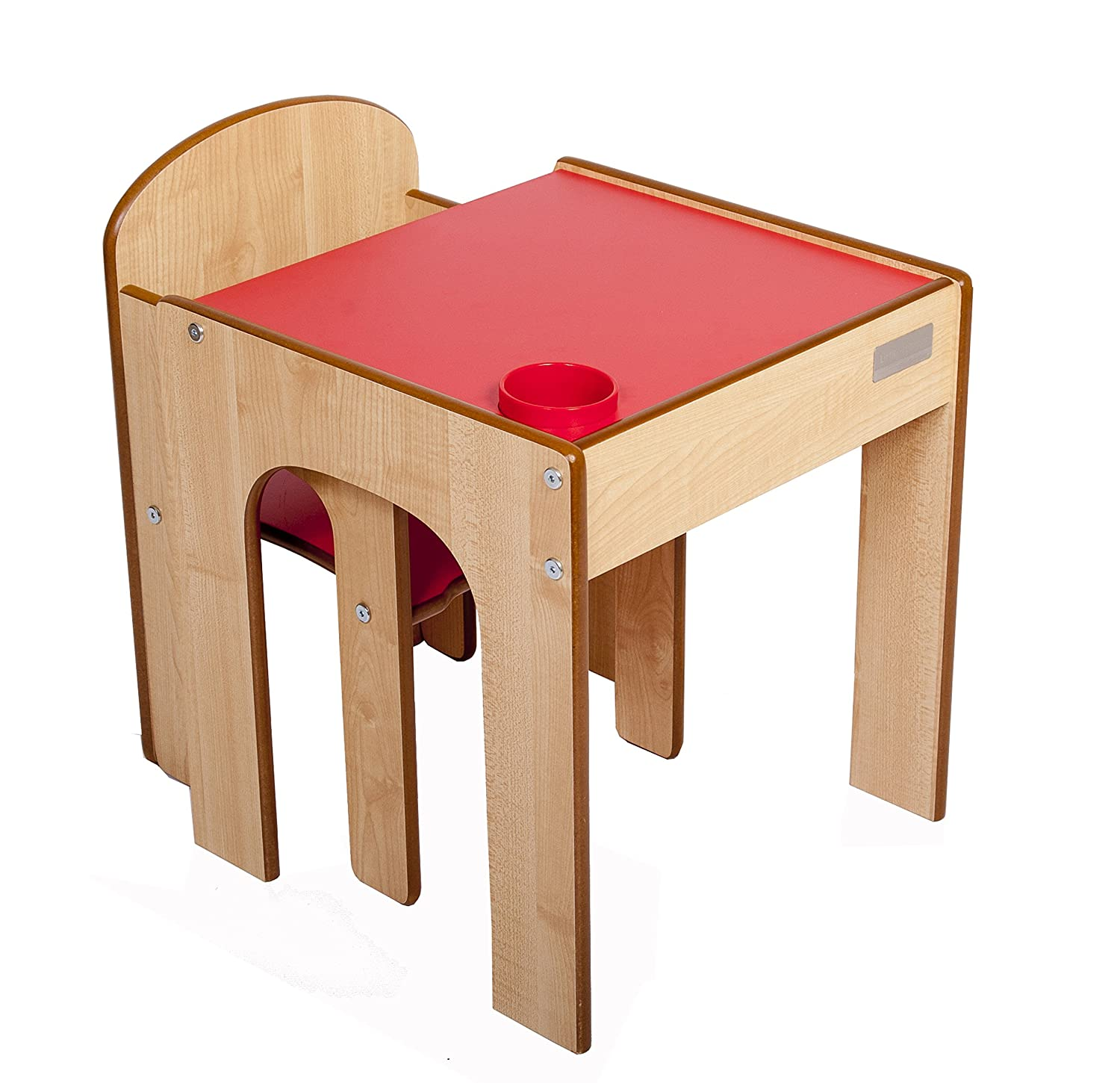 Little Helper Funstation Solo Toddler Table and Chair Set Maple