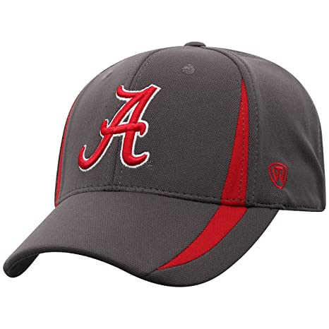 super popular aed6e fc781 Top of the World NCAA Alabama Crimson Tide Men s Performance Fitted  Charcoal Triumph Icon Hat,
