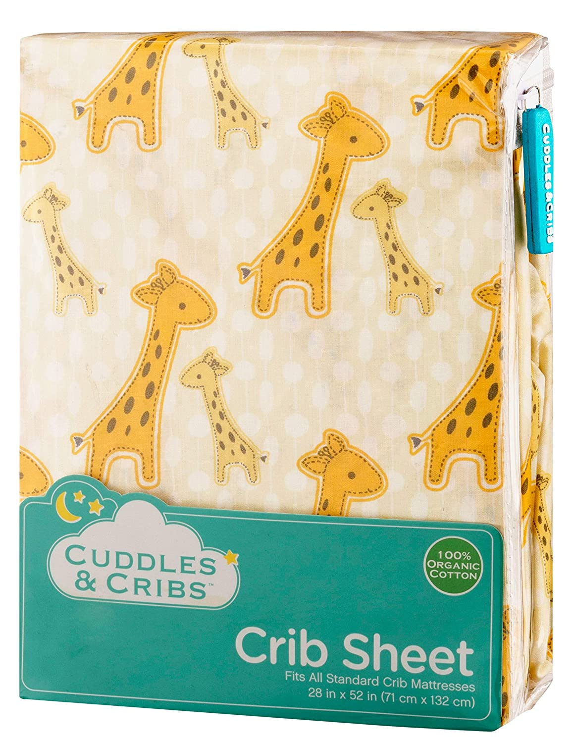 Cuddles /& Cribs 1 Pack GOTS Certified Organic Cotton Fitted Crib Sheet Solid Blue, 1 Pack