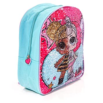 918d2619bc LOL Surprise Children s Reversible Sequin Backpack Bee Ballet Dancer Design  - Pink School Bag for Girls Back to School Essentials  Amazon.co.uk  Luggage
