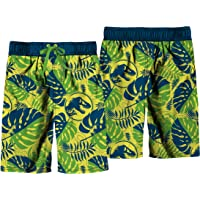 Jurassic World All Over Print Floral Dinosaur Swim Shorts for Boys, Kids Swimwear, Board Shorts for Kids