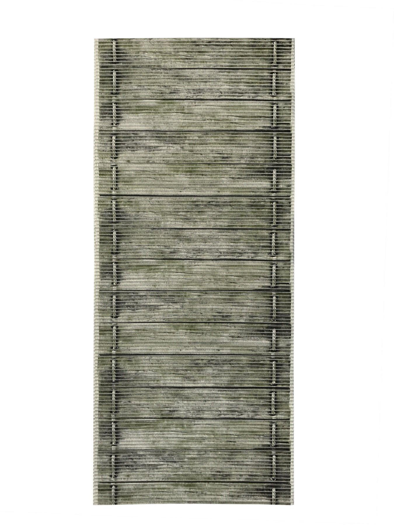 2-feet X 8-feet Rubber Foam Runner Rug | Moss Wood Birch Modern Floor Runner 2x8